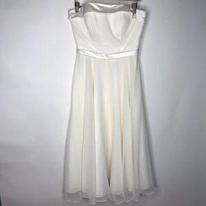 Mori Lee | Tea Length Tulle A-Line Wedding Dress